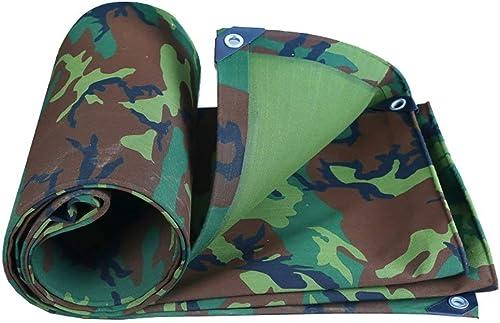 Bache de tente durable tente extérieure bache toile imperméable bache de camping tapis haute température anti-vieillissement tente toile de camion camouflage couverture (Couleur   A, Taille   4  5m)