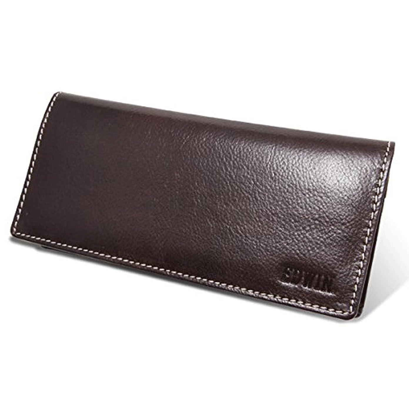 クライアント間に合わせストレスの多いエドウィン(EDWIN) 財布 長財布 ウォレット 札入れ 牛革 0510429 (チョコ)