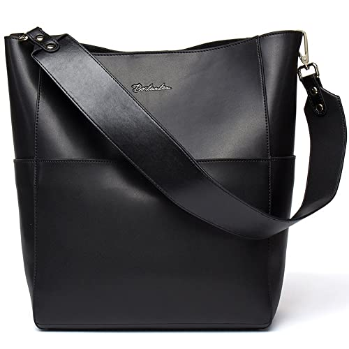 BOSTANTEN Women s Leather Designer Handbags Tote Purses Shoulder Bucket Bags 28cd9df94a6c9