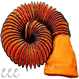 Mophorn Conducto Flexible de PVC Ventilador 7,6 m Diámetro de 45,7 cm Manguera de Conducto Flexible de PVC Conducto de Ventilación Tubo de Manguera de Ventilación Conductos de Aire de PVC Ignífugo