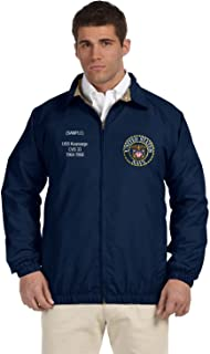 US Navy Personalized Custom Embroidered Lightweight All Season Jacket