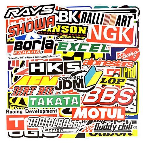 MENGYUAN 100 pegatinas de carreras de graffiti para coche, impermeables, para casco de motocicleta, maletero, portátil,