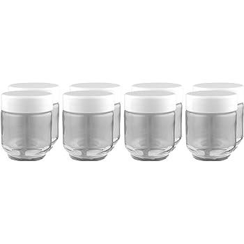 Euro Cuisine Glass Jars for Yogurt Maker, Set of 8