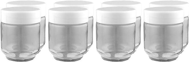 Euro Cuisine GY1920 Glass Jars for Yogurt Maker, Set of 8