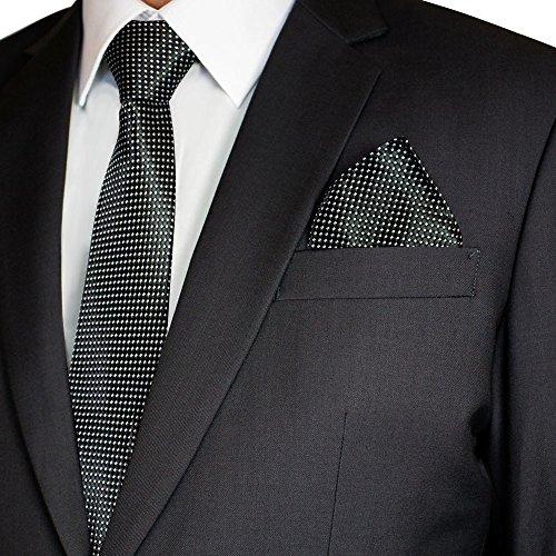 Soul Cats® Set: Cravate à Motifs avec Mouchoir + manuelles Rayures Cravate Hommes, Modèle: Model 8