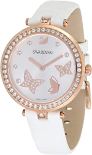 Swarovski Women's Quartz Watch, Analog Display and Leather Strap 5412364