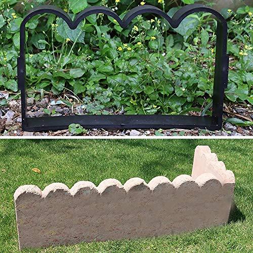 Patrón de molde de pavimentación de jardín Camino de jardín de plástico Herramienta de bricolaje Patio valla de hormigón del molde del molde de ladrillos de cemento para jardín de césped