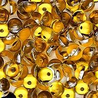 アクリル 半円 半球 マルポコ ラインストーン デコ電 ネイル デコパーツ 4mm ライトオレンジ