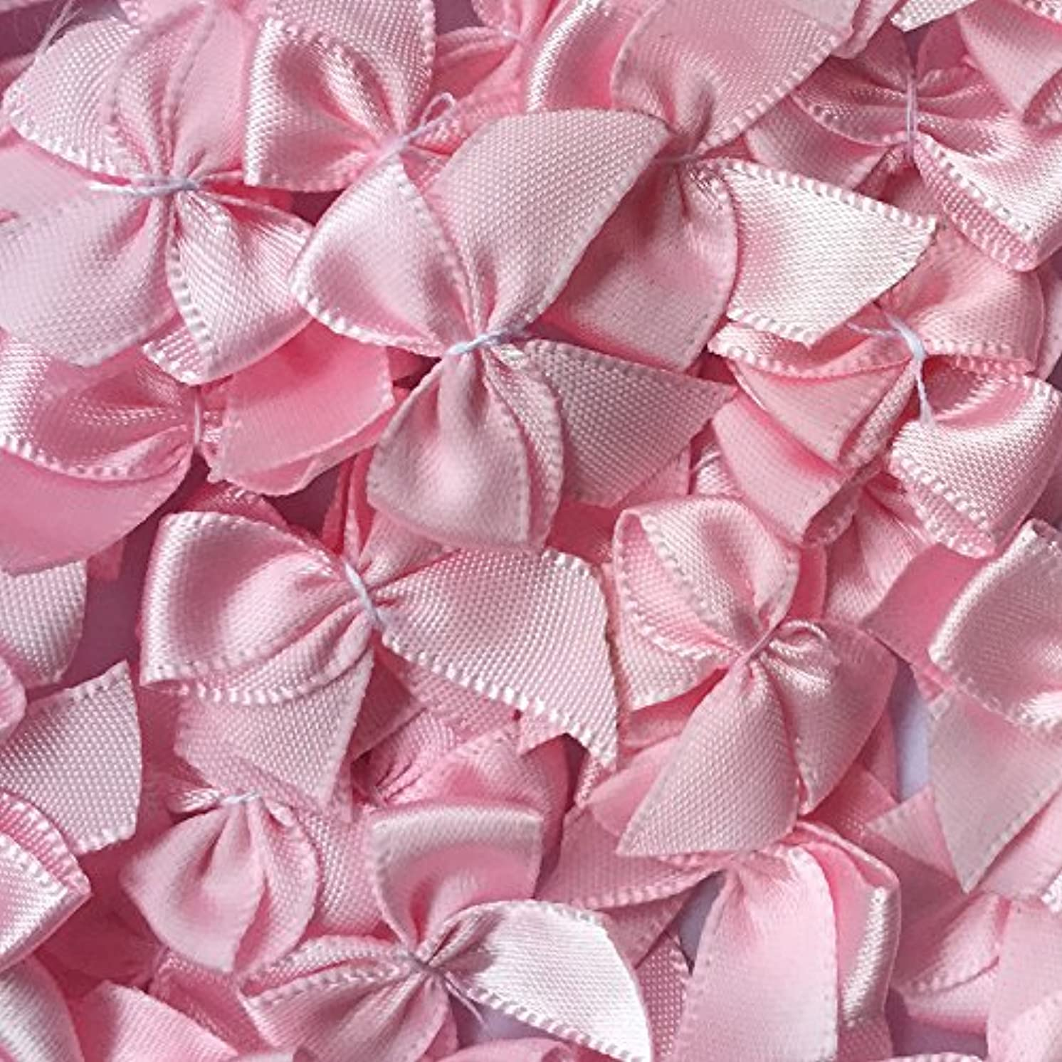 Chenkou Craft 60pcs Mini Satin Ribbon Bows Flowers 1