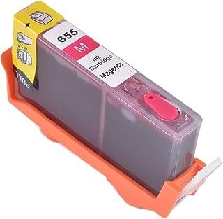 CMDZSW Compatibile con inchiostro completo per cartucce ricaricabili HP 655, adatto per HP Deskjet 3525 5525 4615 4625 452...