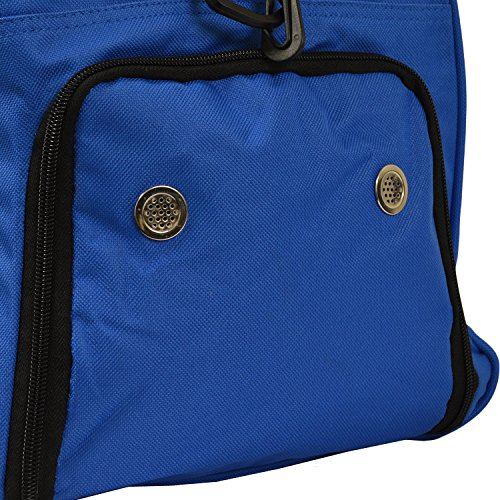 Andes 40 Litre Blue Sports Gym Travel Bag Shoulder Holdall Luggage, Includes Shoe Pocket, Drinks Pocket and Adjustable Shoulder Strap