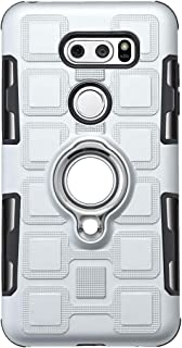 YZXBLF Lg V30 Case,Hybrid Heavy Duty Impact Resistant Cover Armor Dual Layer Protection Shockproof with 360 Ring Holder Ki...