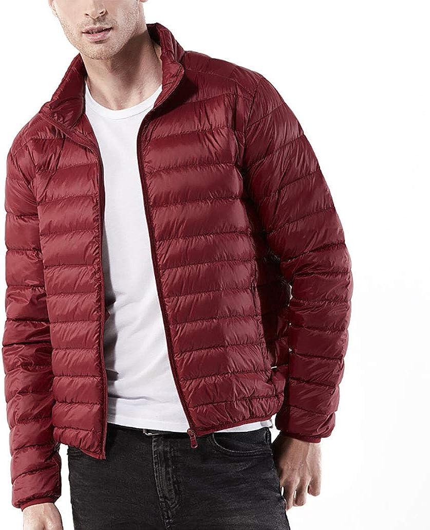 Marolaya Ultra-Thin Solid Color Down Jacket Short Paragraph Casual Light Down Jacket for Men