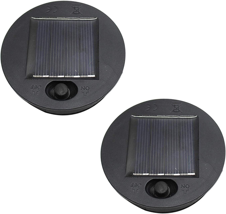 FDKJOK Paquete de 2 luces solares de repuesto de panel solar superior LED de repuesto para faroles colgantes al aire libre DIY luces de mesa jardín patio decoración