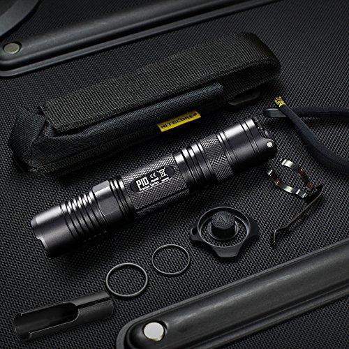 LED color negro 12.60W 1800 l/úmenes Nitecore MH25GTS linterna recargable por USB resistente al agua 8 modos t/áctica 3.60V