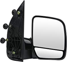 ECCPP Folding Manual Side View Mirrors Right Passenger Side Tow Mirror Replacement fit for 2002 2003 2004 2005 2006 2007 2008 Ford E150 E250 E350 E450 E550 Econoline Van (Passenger Side (RH))