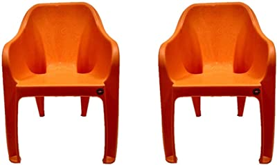 Cello Dynamo Chair Set Pack of 2 - Orange