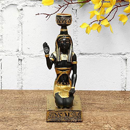 Candelabro Resina egipcia Figurita sostenedor de Vela de la Vendimia Anubis Estatua Craft Decoraciones caseras Regalo Decoración De Boda Hogar (Color : 2, Size : One Size)