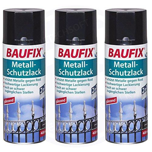 Baufix Peinture de protection pour métal - Noir - 400 ml
