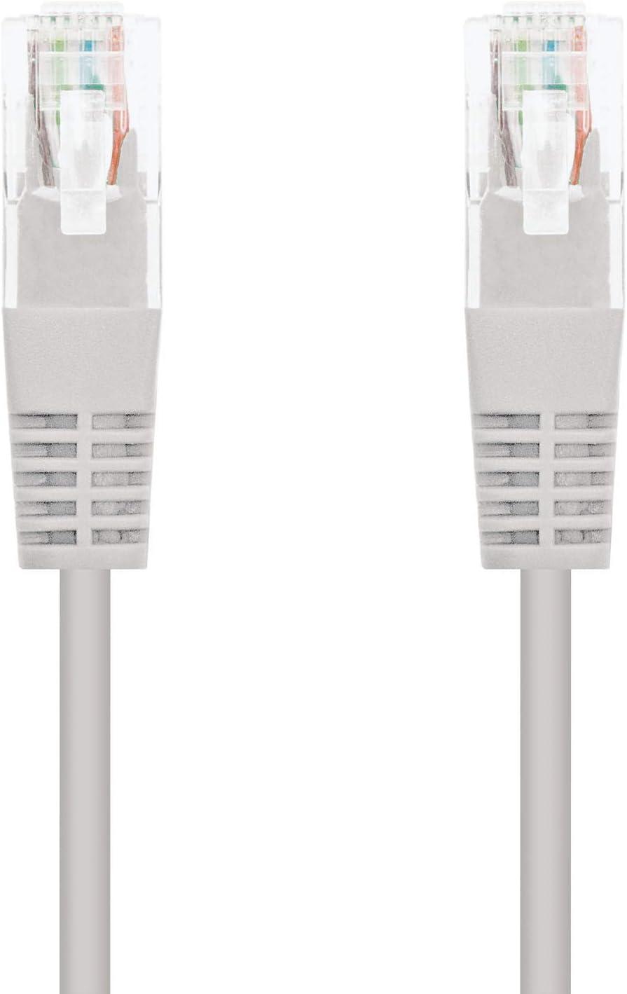 NanoCable 10.20.0130 - Cable de red Ethernet RJ45 Cat.5e UTP AWG24, Gris, latiguillo de 30mts