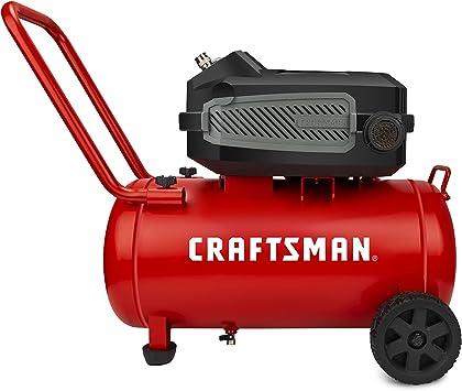 Craftsman HARD Air Compressor, 10 Gallon 1.8 HP 175 PSI, 4.0CFM@90PSI, Oil Free and Maintenance Free, Portable with Large Wheels, Model: CMXECXA0201041: image