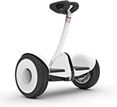 Segway Ninebot S Smart Self-Balancing Electric Scooter with LED light, Portable and Powerful, White and Black