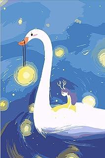 Hxlnjkl Set de Pintura Digital DIY Anime de Dibujos Animados Imagen de Logotipo Digital por s