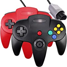 $26 » 2 Pack N64 Controller,Classic Wired N64 Upgrade Joystick Gamepad Controller for Original Nintendo 64 Console-Red and Black