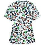 Vtops Camiseta de enfermería para mujer de manga corta, camiseta de...