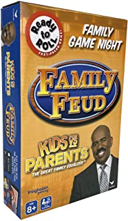Family Feud Kid's vs Parents - The Great Family Equalizer Game - 2 - 4 Players Ages 8 and Up