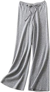 DAIMIDY Women's Cashmere Wide Leg Pants