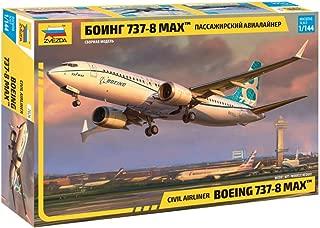 Zvezda 7026 - Civil Airliner Boeing 737 MAX - Plastic Model Kit - Scale 1:144 121 Parts Lenght 11