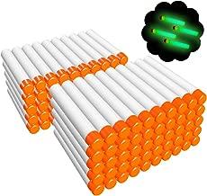 AMOSTING 100Pcs Refill Darts for Nerf N-Strike Elite Modulus Glow at Dark Bullets - White