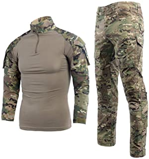 Mens Paintball Gear OCP Combat Shirt and Tactical Pants Suit BDU Military Uniform Airsoft Accessories Hunting Hiking