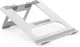 BoYata ノートパソコンスタンド ノートPCスタンド 無段階調整 姿勢改善 肩こり/腰痛防止 タブレットホルダー 折りたたみ コンパクト 軽量 収納/携帯便利 Macbook/Macbook Air/Macbook Pro/Surface/iPad/ノートPC/タブレット/本など17インチまでに対応 BST-20(シルバー)