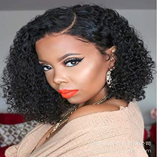 JYZ Curl Human Hair, Lace Front Wigs with Baby Hair Brazilian Curly Wig for Women 40CM Suitable for All Occasions