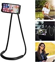 Neck Phone Holder, Neck Mount Cell Phone Holder Lazy Bracket Mobile Phone Neck Hanging Stand Holder with Adjustable Lightweight & Flexible Arms for Vertical or Horizontal Viewing Black