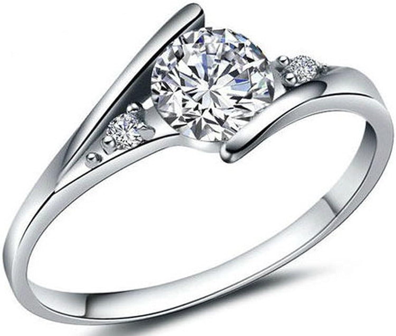 SaySure - Silber Ring Weiß Ring For damen B0173CUPW0  Bestätigungsfeedback