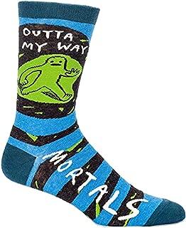 Socks, Mens Crew, Outta My Way Mortals ,Mens Shoe Size 713