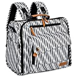 Product Image of the ALLCAMP Zebra Diaper Bag/Multi-Functional Convertible Diaper Backpack Messenger...