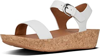 Women's FitFlop Bon Ii Leather Back Strap Sandals Urban UK 6.5 White