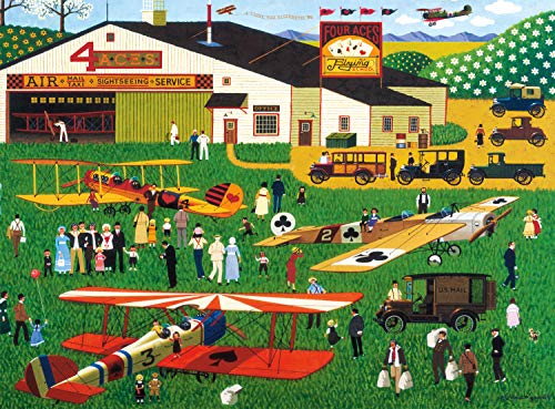 1,000-Pc Buffalo Games Charles Wysocki Four Aces Flying School Jigsaw Puzzle $8.20