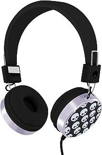 Rockpapa On Ear Stereo Wired Skull Headphones Earphones Adjustable for Kids Childrens Boys Girls Teens Adults, iPod iPad M...
