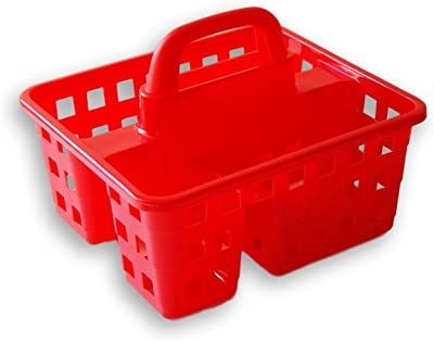 Greenbrier Small Utility Shower Caddy Tote - Red