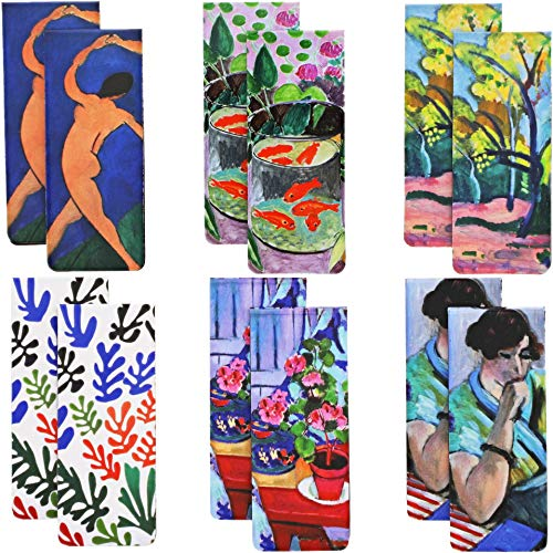 Matisse Magnetic Bookmarks in 6 Designs (0.8 x 2 Inches, 12-Pack)