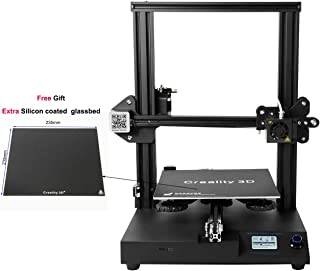 Creality 3D CR-20 3D Printer semi-Assembled Full Metal I3 MK8 with Resume Print 24v Printing Volume 220x220x250mm with Extra Carbon Crystal Coat Glass Bed Assembled Ender 3 pro