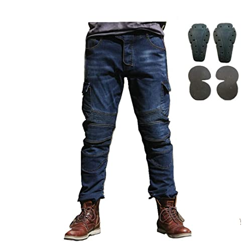 c093fc20347 Toach Denim Jeans for Men Motorcycle Riding Pants with CE Detachable  Protective Pad Black/Army