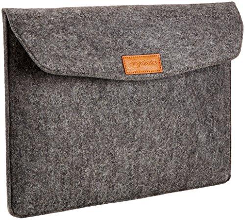 Amazon Basics 15.4 Inch Felt MacBook Laptop Sleeve Case - Charcoal