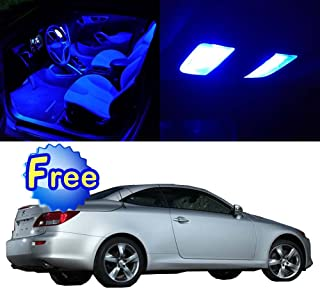 SCITOO LED Interior Lights 14pcs Blue Package Kit Accessories Replacement for 2006-2014 Lexus IS250 IS350 ISF