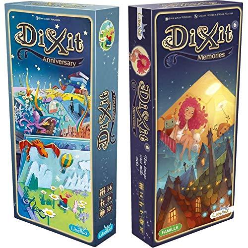 Asmodee Dixit Anniversary 2 Edición (DIX11ML2) + Libellud Dixit Expansión Todas Las Expansiones Disponibles Dixit Memories (Dix08Ml)